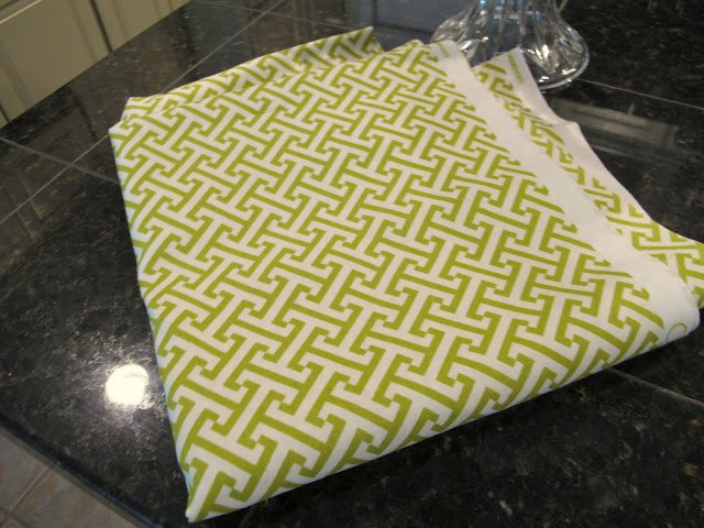Green Puzzle Fabric- Craft- DIY- Instructions