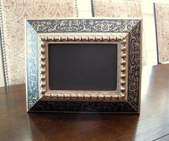 Craft- Chalkboard- ow to create a framed chalkboard