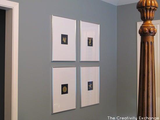 Diy Gold Leaf Wall Art : How to gold leaf on paper diy wall art