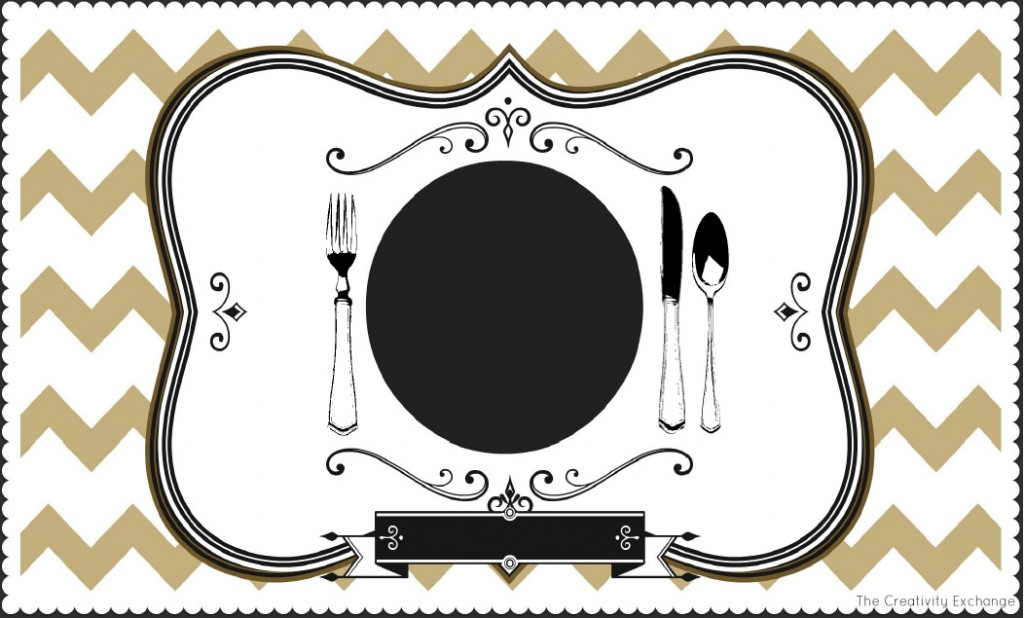 photo about Printable Placemat titled Totally free Printable Childs Chalkboard Placemat November