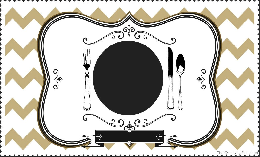 Free printable childs chalkboard placemat november printable of free printable chalkboard placemat pronofoot35fo Images