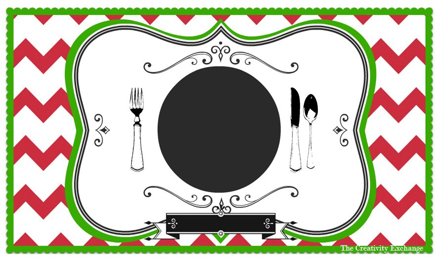 photograph about Printable Placemats named Free of charge Printable Childs Chalkboard Placemat November