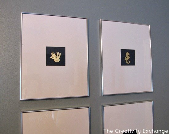 DIY Wall Art- Instructions- Craft- How to Gold Leaf on Paper
