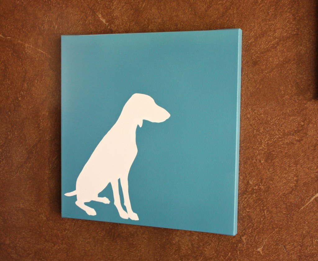 How to create a dog silhouette on canvas- Instructions