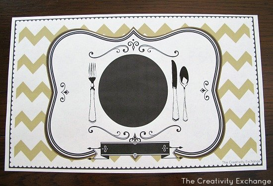 Free Printable- Placemat-Craft- Instructions