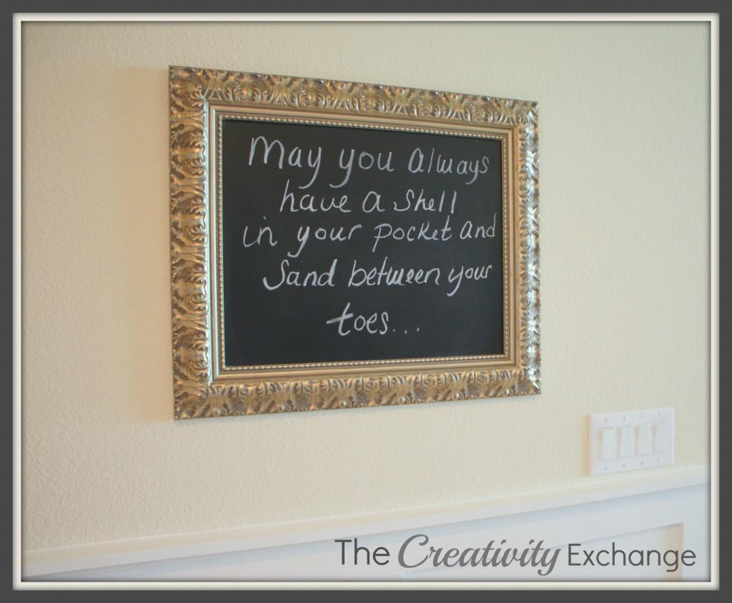 Large framed Chalkboard - How- DIY- Instructions- Craft- Make