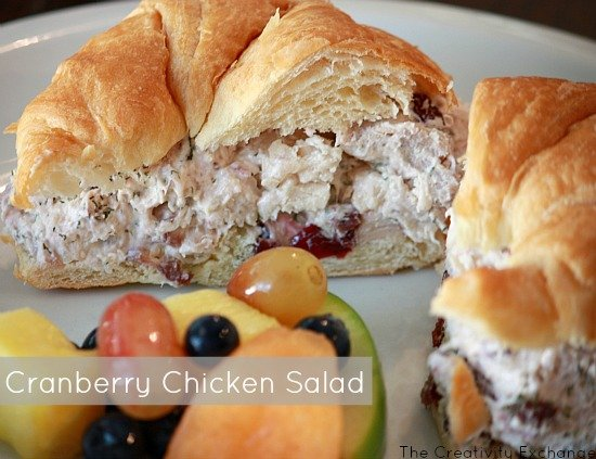 Cranberry Chicken (or Turkey) Salad {HEB Copycat Recipe}- The Creativity Exchange