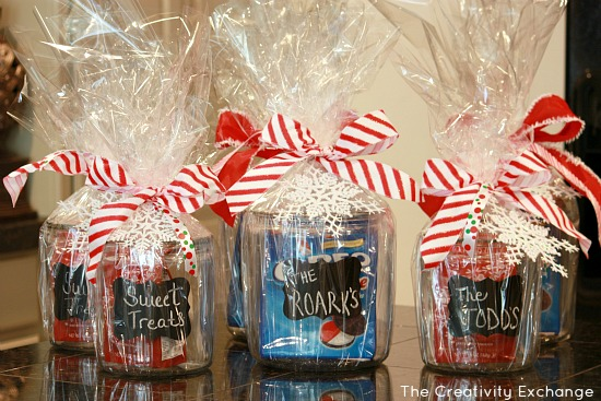 DIY- Craft- Chalkboard Cookie Jars- Homemade gift idea- Christmas gift project