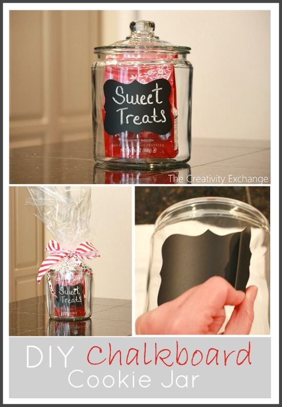 DIY Chalkboard Cookie Jar {last minute easy gift idea}…
