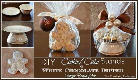 DIY Cookie Stands & Dipped Gingerbread Men