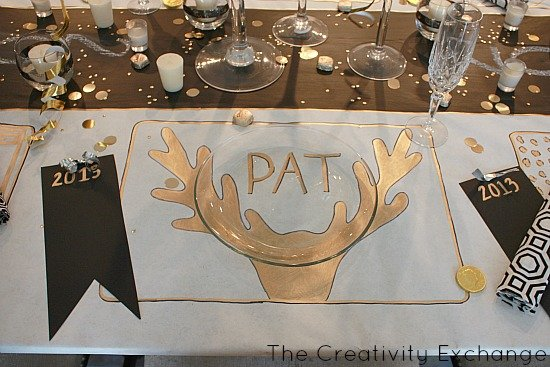 Diy Festive Butcher Paper Tablecloth Happy New Year