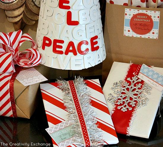 Free printable Christmas Gift Tags and Labels