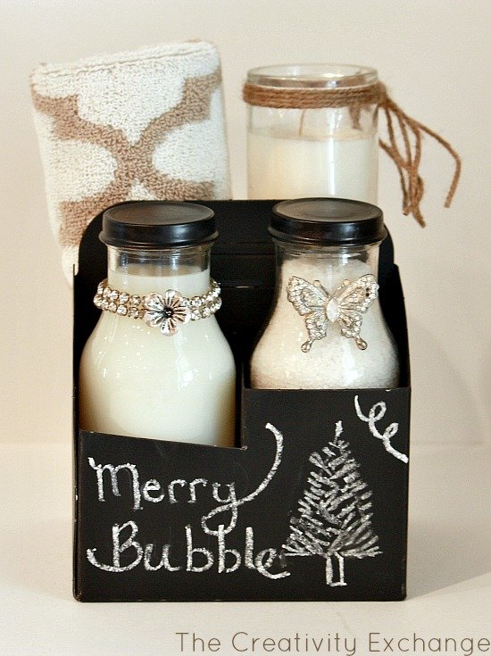 Chalkboard gift ideas- Merry Bubble- Craft- Make- Christmas Teacher Gift Ideas