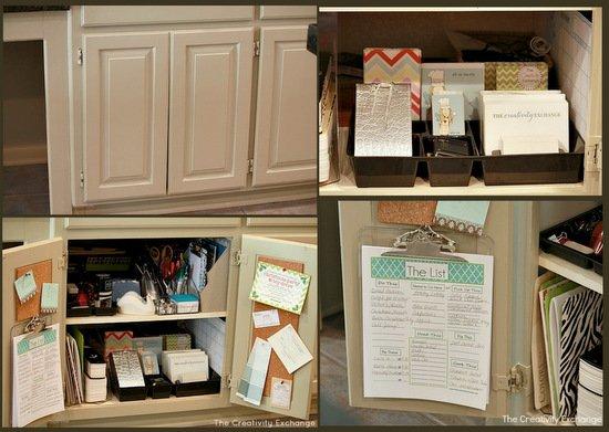 Easy Kitchen Cabinet MiniOffice Organize