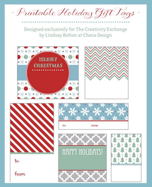 Free printable Christmas Tags and Labels-