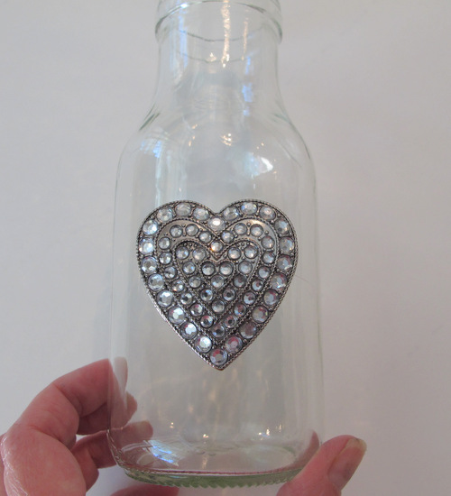 how to glue jewelry to glass jars- crafty- gift ideas- teacher gifts