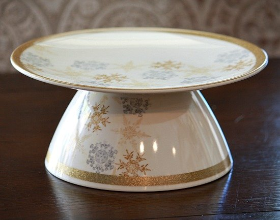 DIY Cake/Cookie Plates by Gluing a Plate and Bowl Together {The Creativity Exchange}