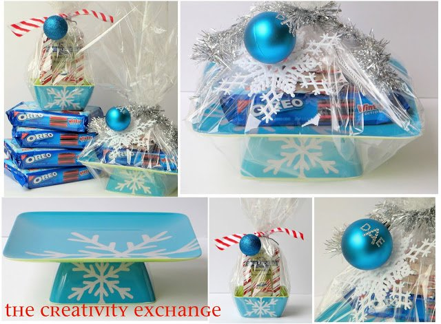 DIY Cake/Cookie Stand Gluing a Melamine Plate & Bowl Together {The Creativity Exchange}