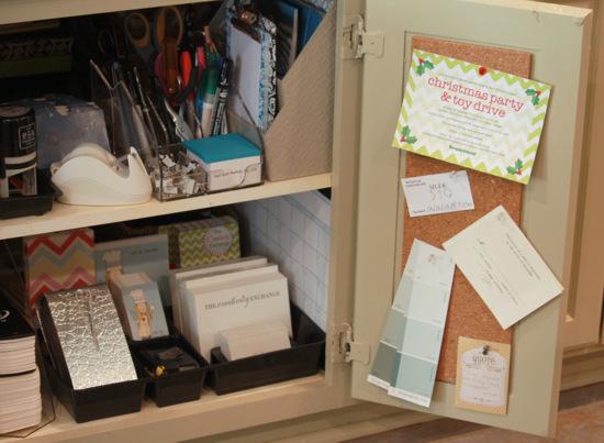 easy kitchen cabinet mini office organize