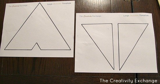 graphic relating to Free Printable Chevron Pattern known as Do-it-yourself Multi-Coloured Chevron Canvas Artwork with Printable Stencil