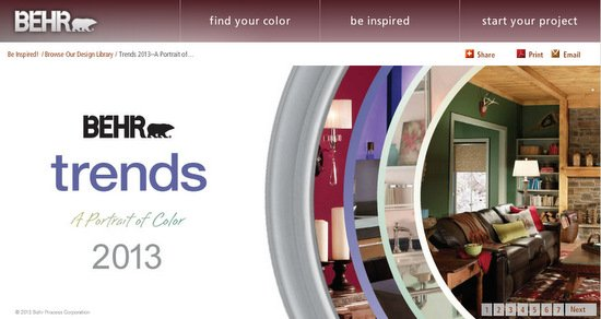 Behr Paints 2013 Paint Color Forecast