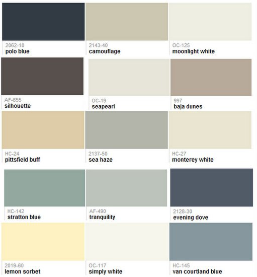 Benjamin Moore 2013 Paint Color Forecast