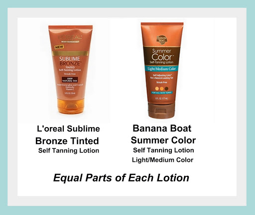 Amazing Self Tanner Recipe by Mixing Two Products Together -The Creativity Exchange