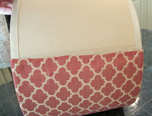Tutorial for How to Recover Drum Shades with Fabric