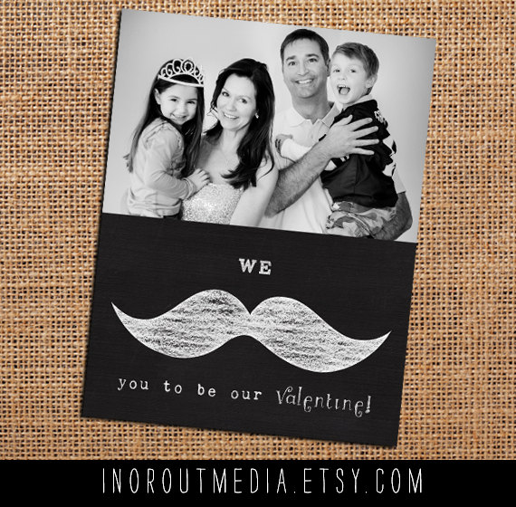 Adorable family valentines {In or Out Media-Etsy Shop}