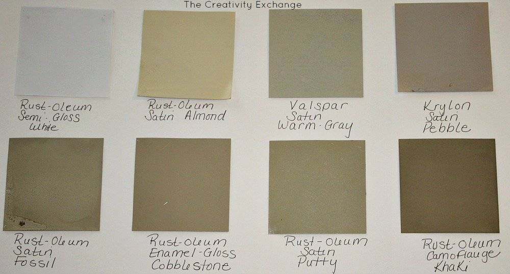 almond paint color20 Favorite Spray Paint Colors Friday Favorites
