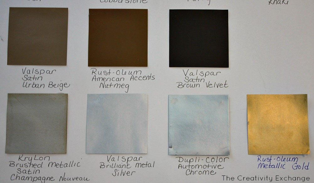 20 favorite spray paint colors friday favorites Metallic spray paint colors
