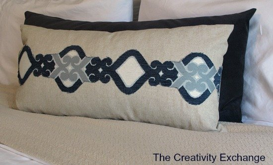 Create an Applique for a Pillow with Upholstery Fabric {The Creativity Exchange}