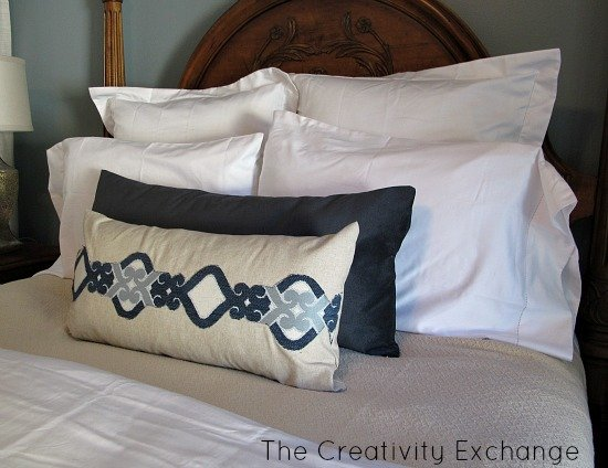 Creating Pillow Appliques out of Upholstery Fabric {The Creativity Exchange}