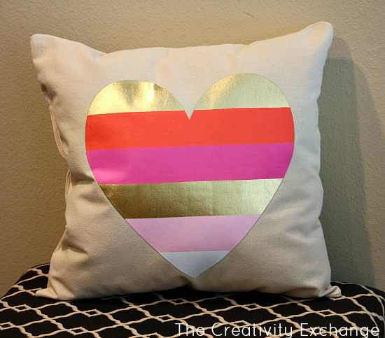 Cut out a Screen Print on a T-Shirt and Turn it into a Fun Applique for a Pillow {The Creativity Exchange}