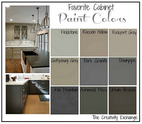 painted gray kitchen cabinetsFavorite Kitchen Cabinet Paint Colors