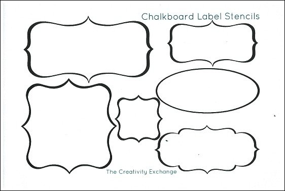photograph about Printable Chalkboard Labels named Absolutely free Printable Stencils toward Produce Vinyl Chalkboard Labels