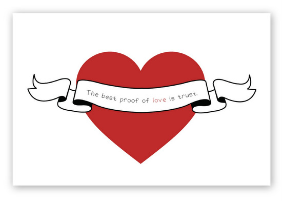 Free Printable 5 x 7 love print {Created by In or Out Media} February's Printable of the Month