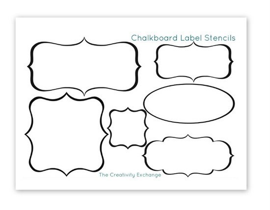photograph about Free Printable Chalkboard Labels called No cost Printable Stencils toward Create Vinyl Chalkboard Labels