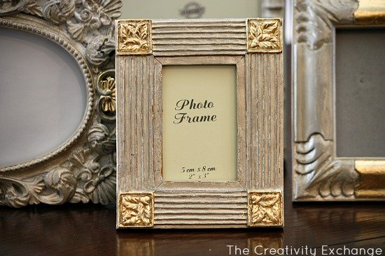 Tutorial for transforming old frames & furniture with spray paint and gold leaf- The Creativity Exchange