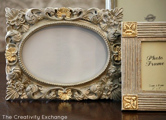 Tutorial for transforming old frames & furniture with spray paint & gold leaf {The Creativity Exchange}