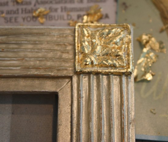 Tutorial for how to add a touch of gold leaf to frames or furniture