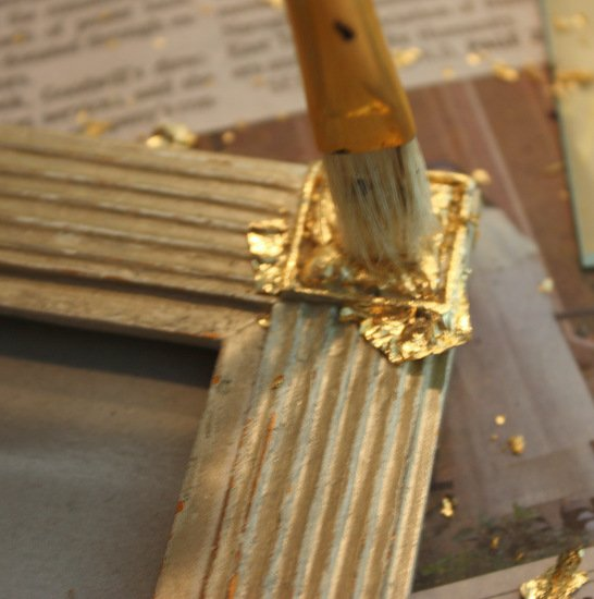 Tutorial for how to gold leaf on wood, frames or furniture