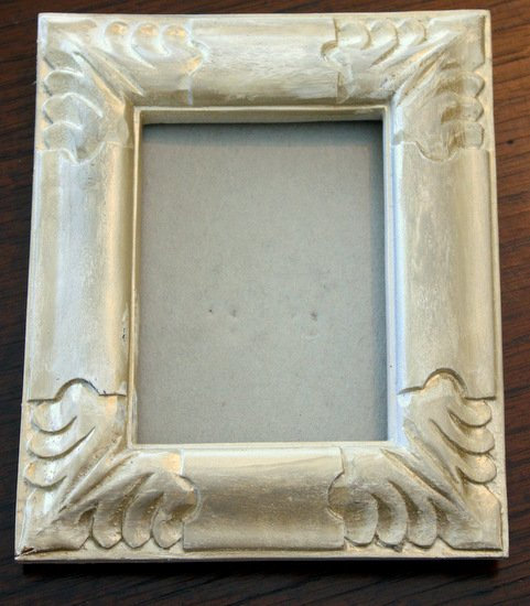 Tutorial for transforming olfd frames with spray paint & gold leaf