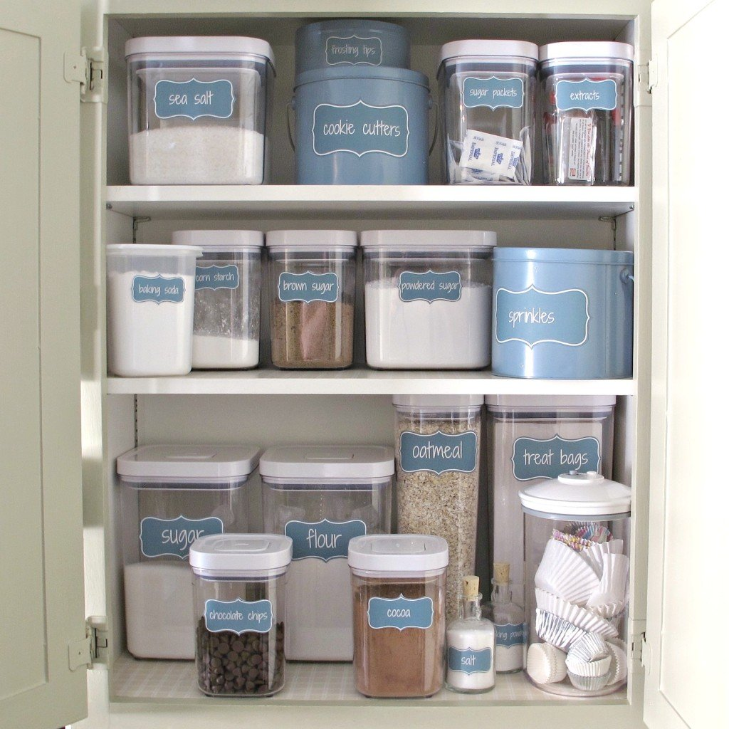 Free Printable Labels for Creating a Baking Cabinet and Organizing a Pantry