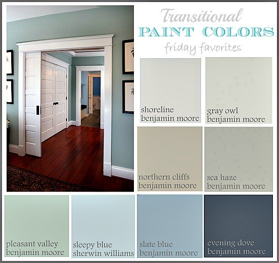 collection of great transitional paint colors friday favorites the. Black Bedroom Furniture Sets. Home Design Ideas