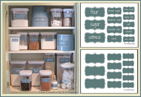 Organize a Baking Cabinet with Free Printable Labels from The Creativity Exchange