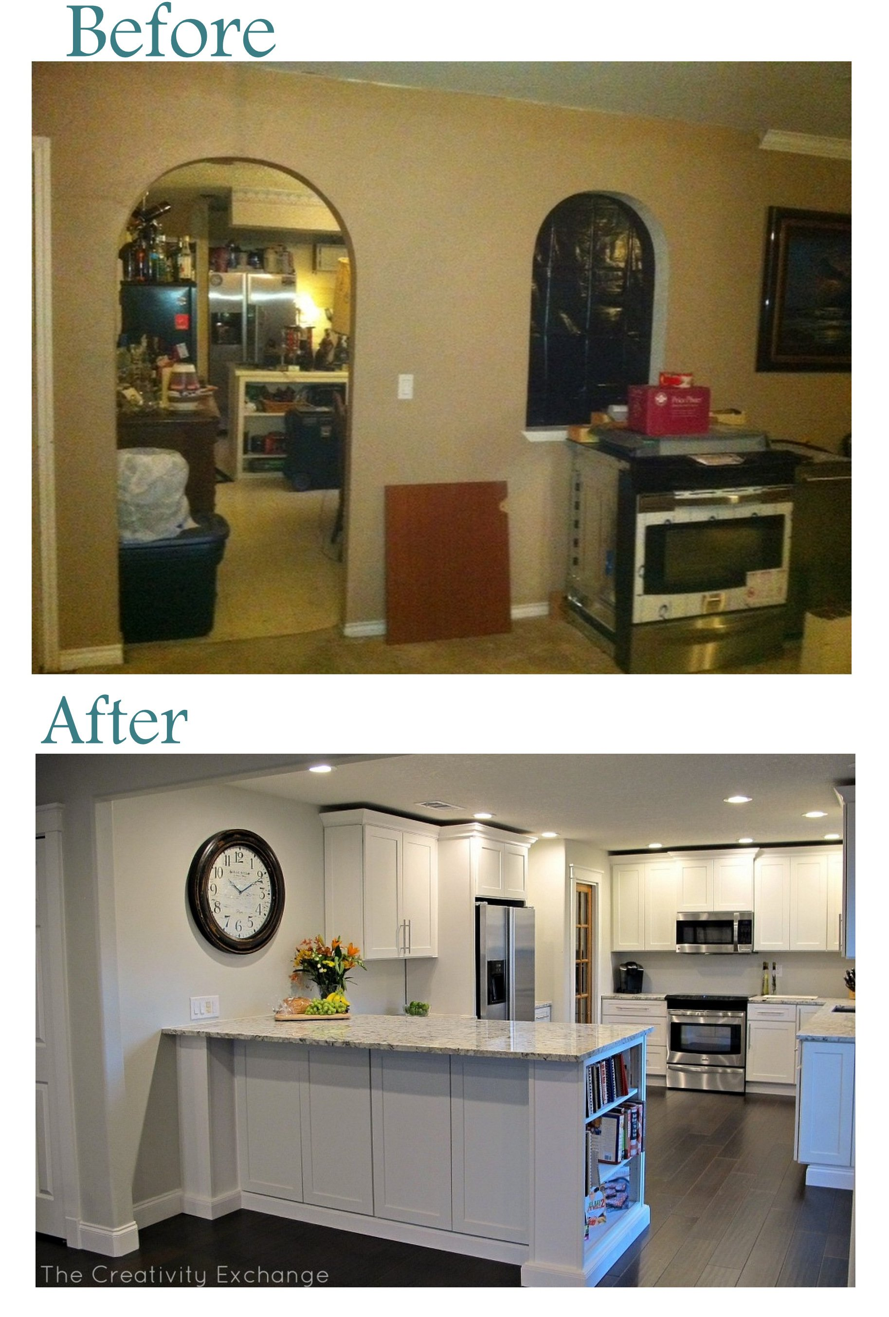 Before And After Small Kitchen: Cousin Frank's Amazing Kitchen Remodel {Before & After}