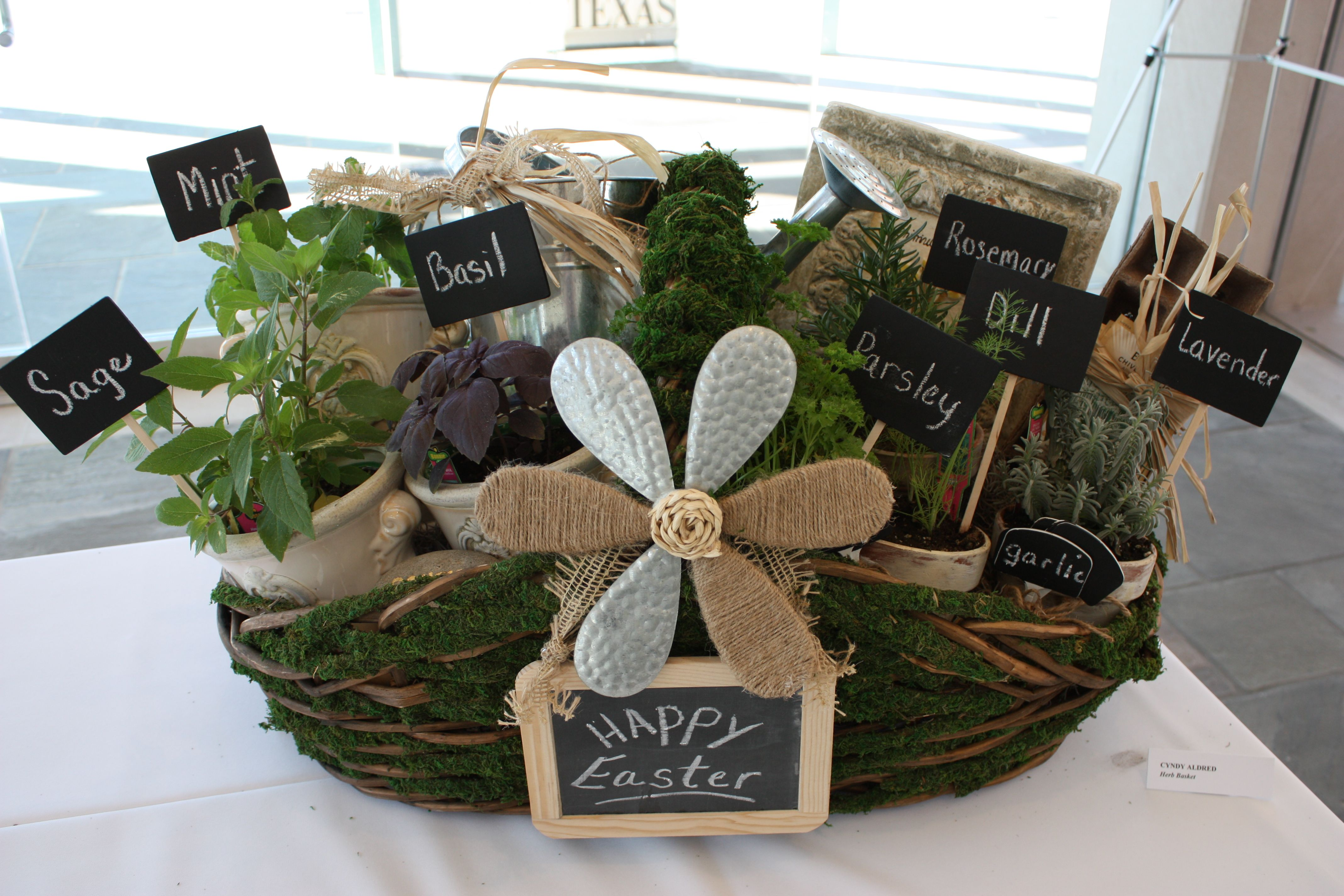 Perfect DIY Gift Idea  Herb Filled Moss Basket {The Creativity Exchange}