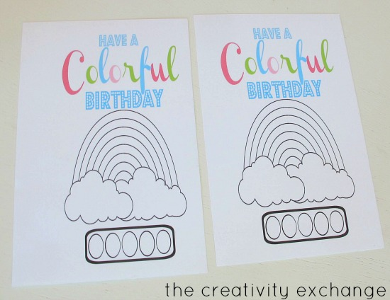 free printable watercolor card