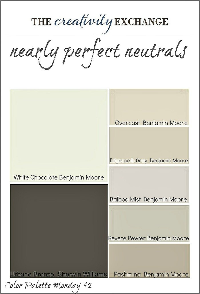 Nearly perfect neutrals color palette monday 2 for Popular blue colors